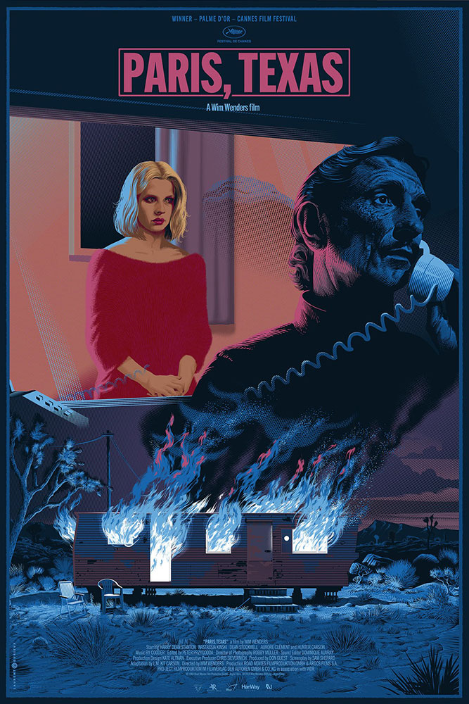 Paris Texas - Regular par Wim Wenders (61 x 91 cm)