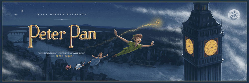 Peter Pan par Walt Disney (30 x 91 cm)