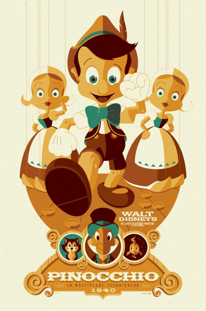 Pinocchio by Walt Disney (24 x 36 in)