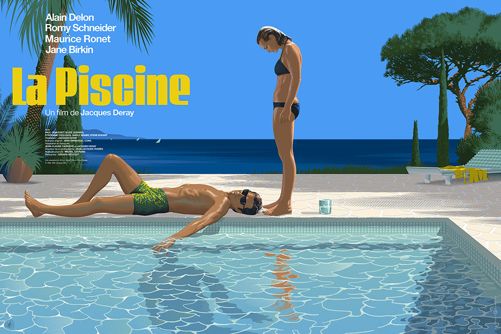 Piscine (la) - Regular par Jacques Deray (61 x 91 cm)
