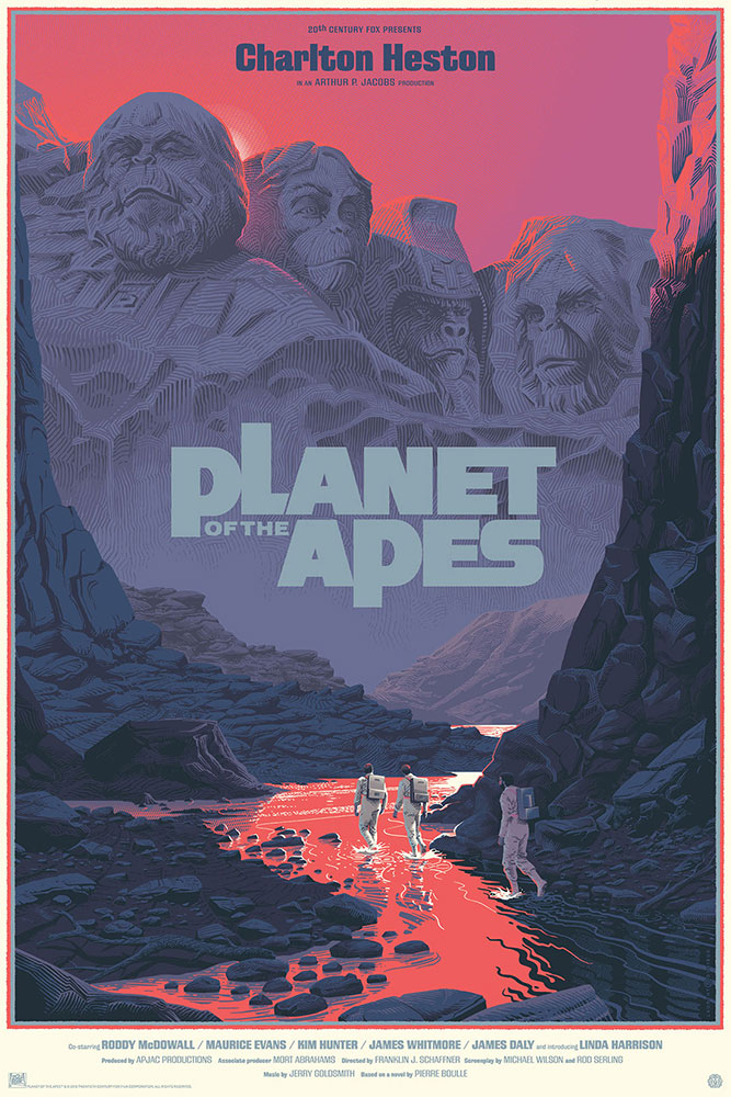 Planet Of The Apes - Variant by Franklin J Schaffner (24 x 36 in)