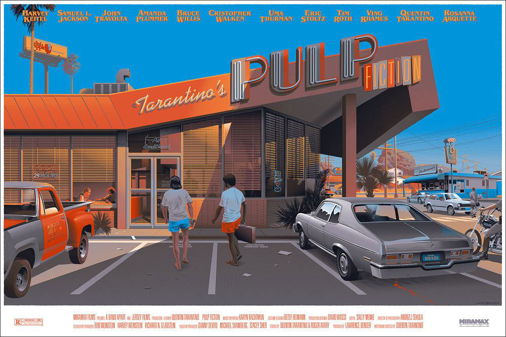 Pulp Fiction - Regular par Quentin Tarantino (61 x 91 cm)