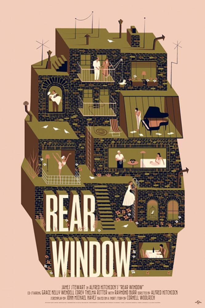Rear Window - Regular par Alfred Hitchcock (61 x 91 cm)