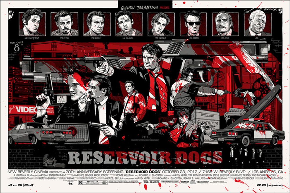 Reservoir Dogs - Variant by Quentin Tarantino (24 x 36 in)