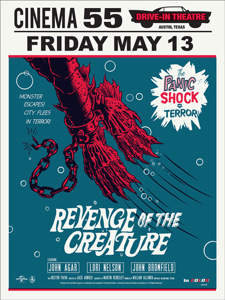 Revenge Of The Creature - Regular par Jack Arnold (45 x 61 cm)