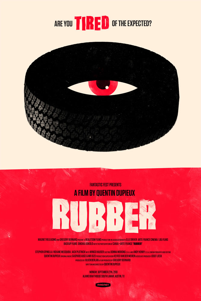 Rubber - Red Variant by Quentin Dupieux (16 x 24 in)