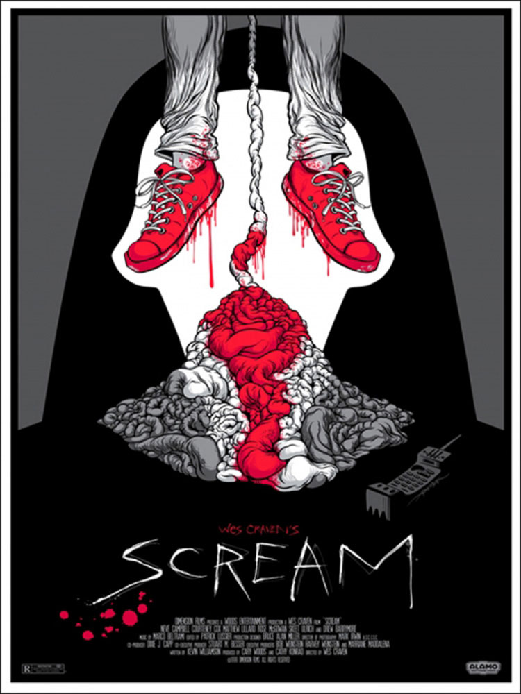 Scream by Wes Craven (18 x 24 in)