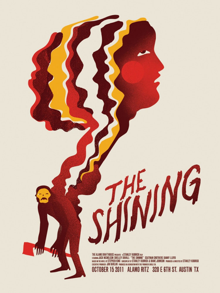 Shining (the) par Stanley Kubrick (45 x 61 cm)