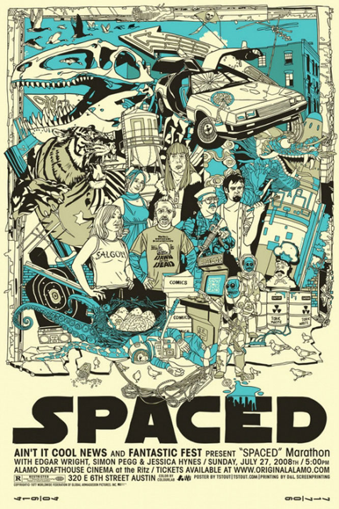 Spaced par Edgar Wright (61 x 91 cm)