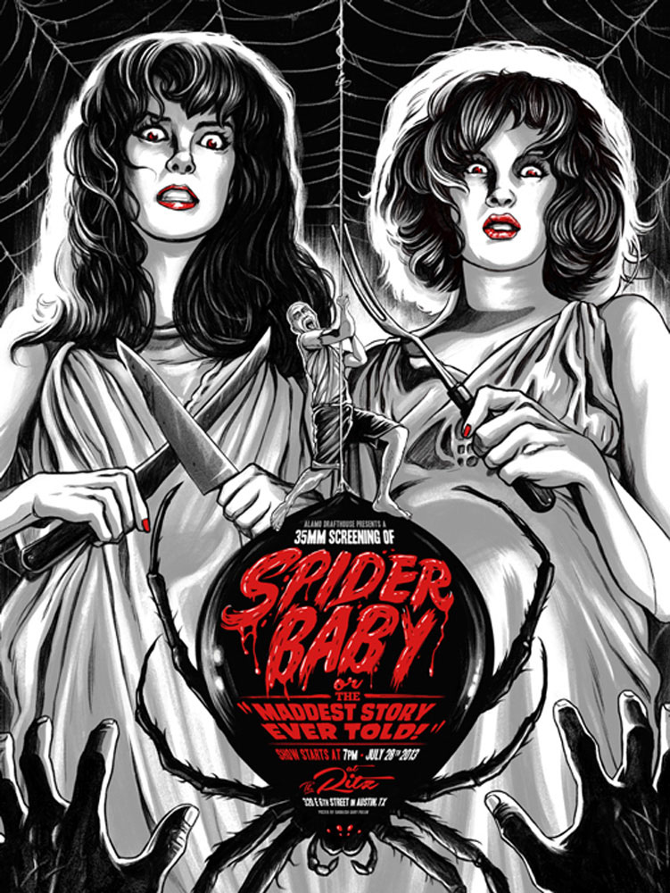 Spider Baby by Jack Hill (18 x 24 in)