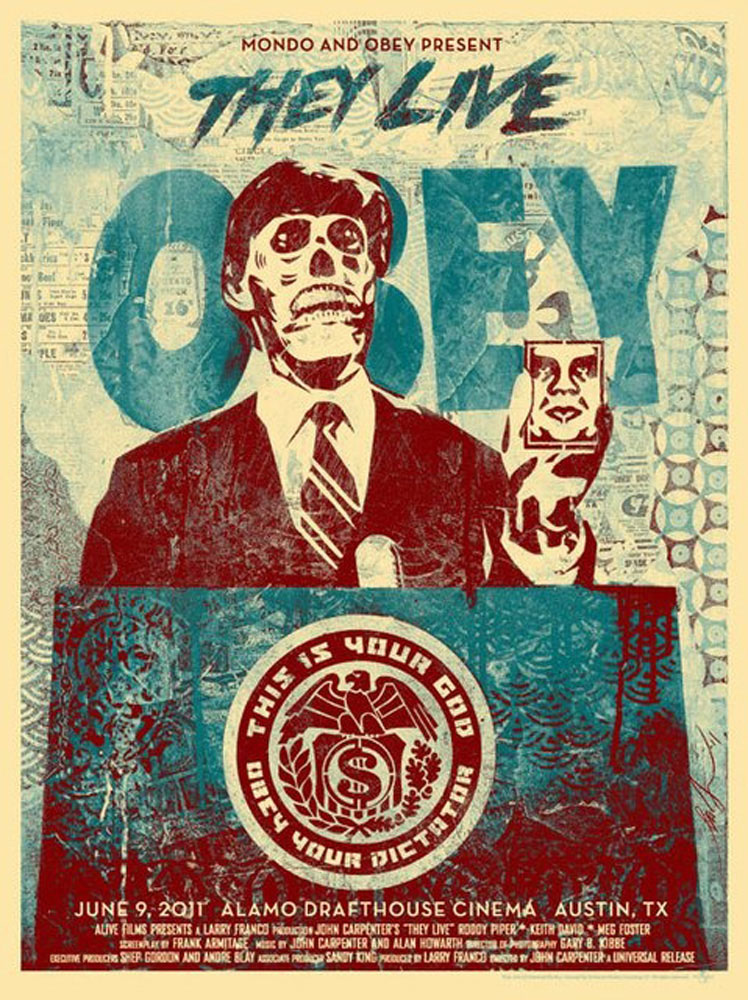They Live - Blue par John Carpenter (45 x 61 cm)