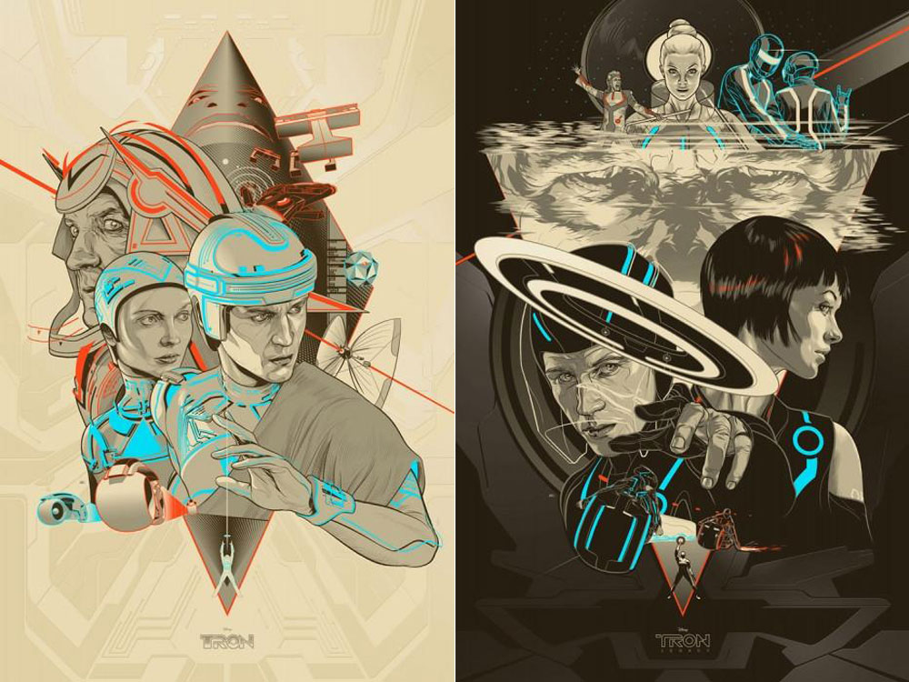Tron - Tron Legacy (set Of 2 Posters) by Steven Lisberger (24 x 36 in)