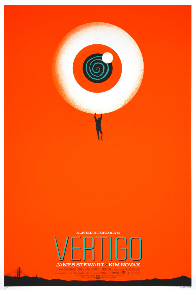 Vertigo - Eyeball by Alfred Hitchcock (24 x 36 in)