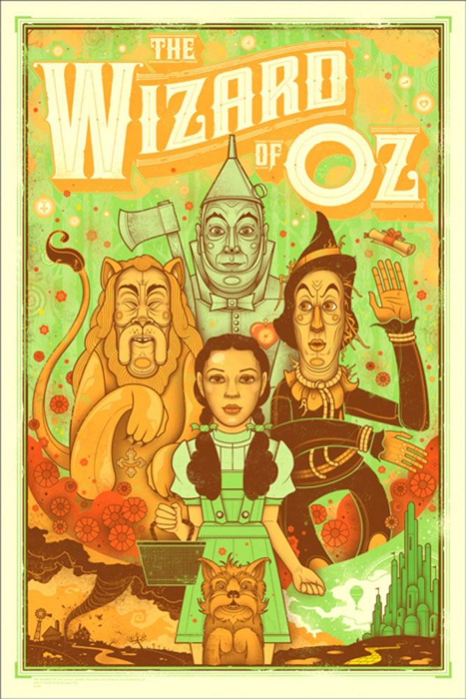 Wizard Of Oz by Victor Fleming (24 x 36 in)